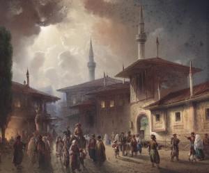 "Фрагмент картины Карло Боссоли ""Бахчисарай"" 1857 г."