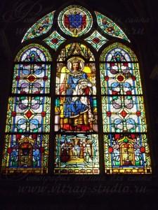 Витраж в соборе L'église Saint-Germain-l'Auxerrois, Франция, Париж