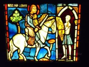 Фрагмент витража. Музей средневековья, Франция, Париж