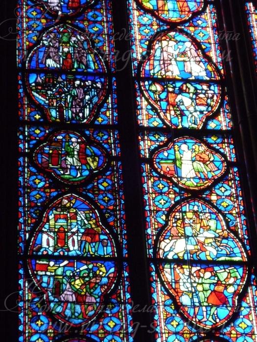 Фрагмент витража в Сент-Шапель, Париж