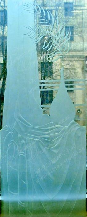 Многоуровневая пескоструйная обработка стекла. Работа художника по стеклу Черновой Евгении