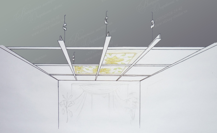 подвесной потолок схема