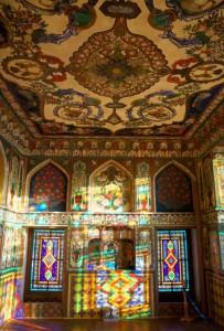 Витражи-шебеке, дворец Шекинских ханов, XVIII век