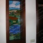 Витраж Тиффани в стенной нише