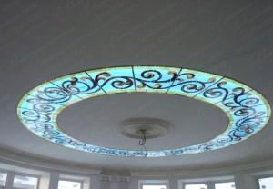 Витражный световой потолок
